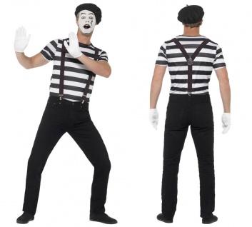 5 tlg. Pantomime Clown Mime Herren