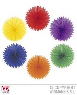 6 x einfarbige runde Papier Lampion, sortiert Deko Laterne Ø 50cm