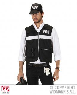 FBI Weste, Kostüm schwarz Herren