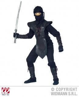 6 tlg.Ninja Kostüm, Kinder, Jungen schwarz