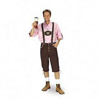 2 tlg Bayernhose braun + rosa Karo Hemd