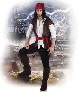 7 tlg. Piraten kostüm Herren, Pirat Seeräuber Gr L u XL komplett 8353