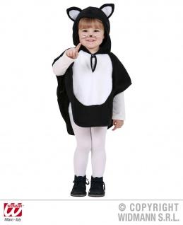 Katze Poncho, Kostüm Kinder, Kleinkinder Plüsch + Kapuze 98 + 104-110