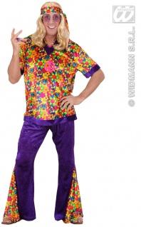 70er Hippie Kostüm, Woodstock, bunt Herren, S-48-50.M 48-50, L 50-52, XL 52-54