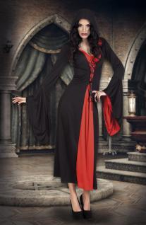 Vampir Kostüm Damen, Hexe, Gothic schwarz rot 36-38 Halloween Karneval