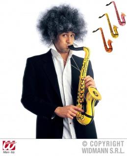 Aufblasbar Saxophon, Saxofon, 55 cm, orange, pink, gelb 2393
