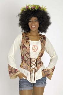 70er Hippie Bluse Flower Power Damen 34-36-38-40-42-44-46-48 Kostüm