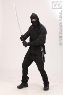 5 tlg. Ninja Kostüm, Ninjakostüm Samurai, Herren S -48, M -50, L -52