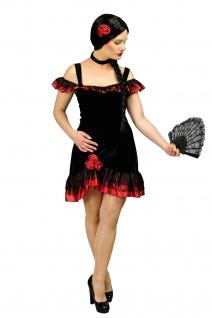 Spanierin Kostüm schwarz-rot