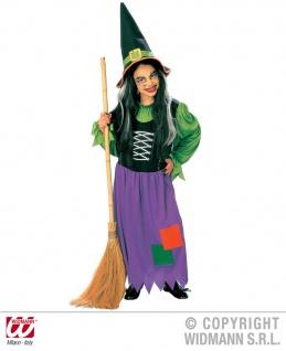 Hexen Kostüm + Hut, tolle Farben Kinder Gr.128-140-158
