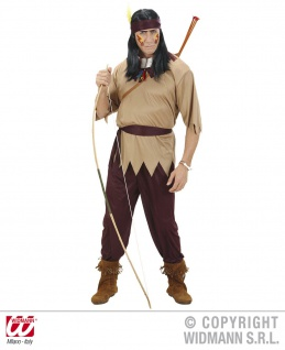 Indianer Kostüm 4 tlg. Herren S M L Karneval Mottoparty