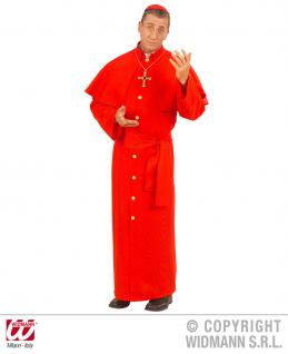 4 tlg. Kardinal Kostüm Herren, ROT