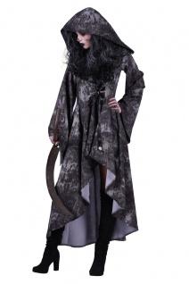 Kostüm mit Kapuze Tod, Vampira, Zombie