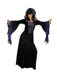 Vampir Hexen Kostüm schwarz-lila Damen Halloween Karneval