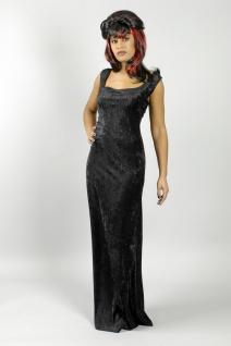 Kleid Basic, lang schwarz Ärmellos