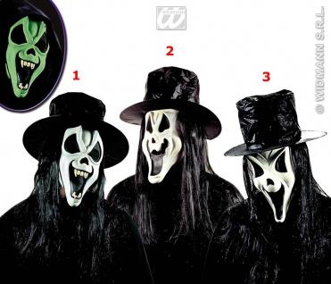 SCREAM GEIST MASKE + Hut + Haare, Grusel, Halloween , Horror