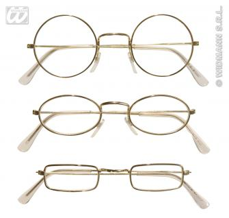 Brille NIckel, gold, Messing