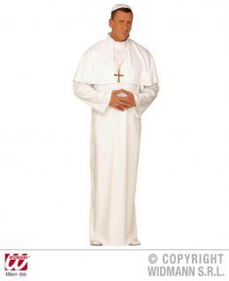 3 tlg. Papst (Pope) Kostüm Herren, WEIß Gr. M, L, XL