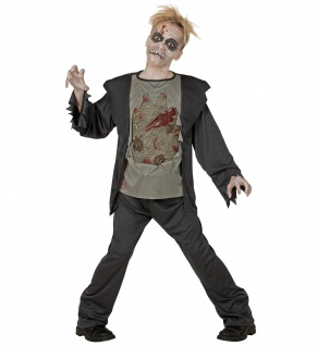2tlg. Zombie Kostüm Kinder - Vorschau 1