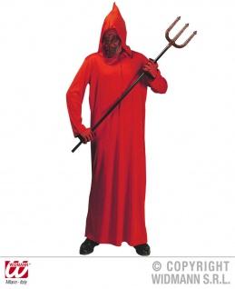 Teufel Kostüm mit Kapuzenmaske rot, Kinder, 0249 Karneval