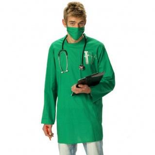 CHIRURG Kostüm, Arzt Doktor Kittel, Schürze Mundschutz Herren