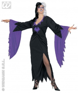 Hexen Kostüm, Gothic Monster, m. Fledermausärmel S, M, L, XL, XXL 3942