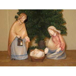 Holzgeschnitzte Heilige Familie, 14 cm hoch
