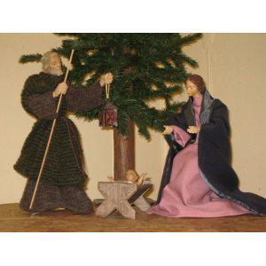 Heilige Familie, Berkalith, angekleidet u. beweglich