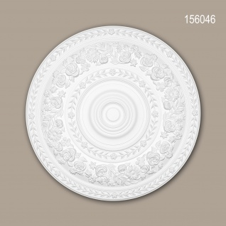 Rosette PROFHOME 156046 Zierelement Deckenelement Rokoko Barock Stil weiß Ø 86 cm