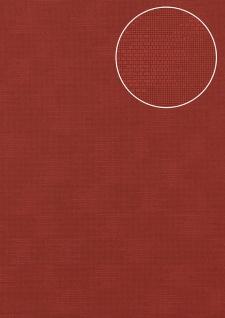 Uni Tapete Atlas COL-499-1 Vliestapete strukturiert mit Struktur matt rot purpur-rot rot-violett 5, 33 m2