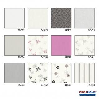 Streifen Tapete Profhome 344572-GU Vliestapete glatt mit Streifen matt weiß 5, 33 m2 - Vorschau 2