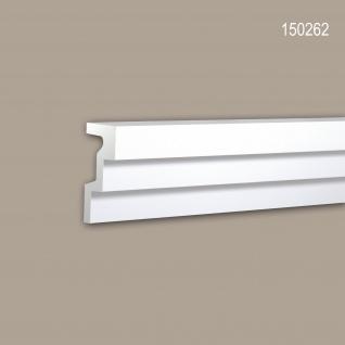 Eckleiste PROFHOME 150262 Zierleiste Stuckleiste Modernes Design weiß 2 m