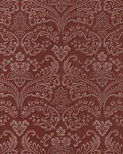 3D Barock-Tapete Präge Tapete damask EDEM 755-26 Orient-rot platin schattierung