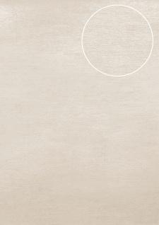 Uni Tapete Atlas TEM-5114-1 Vliestapete strukturiert im Shabby Chic Stil schimmernd creme perl-weiß rein-weiß seiden-grau 7, 035 m2