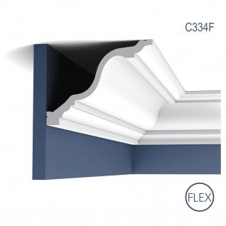 Dekor Profil Orac Decor C334F LUXXUS flexible Leiste Eckleiste Zierleiste Deckenleiste Stuckgesims Wand Dekor Leiste 2 Meter