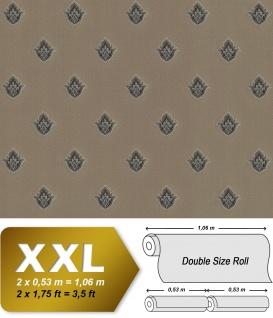 Barock Tapete EDEM 9043-26 Vliestapete geprägt mit Ornamenten glänzend braun beige kupfer silber 10, 65 m2