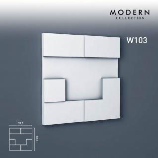 3D Wandpaneel Orac Decor W103 MODERN CUBI Zierlement Modernes Design weiß