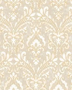Barock Tapete Profhome VD219171-DI heißgeprägte Vliestapete geprägt im Barock-Stil schimmernd beige elfenbein gold 5, 33 m2