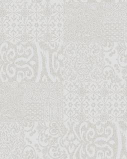 Barock Tapete Profhome VD219147-DI heißgeprägte Vliestapete geprägt im Barock-Stil glänzend silber 5, 33 m2