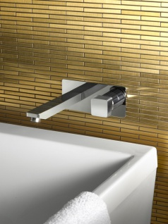 Mosaik Fliese massiv Metall Titan gebürstet in gold 1, 6mm stark ALLOY Deedee-Ti-GB 0, 63 m2 4