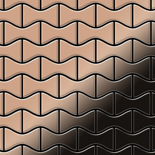 Mosaik Fliese massiv Metall Kupfer gewalzt in kupfer 1, 6mm stark ALLOY Kismet-CM Designed by Karim Rashid 0, 86 m2