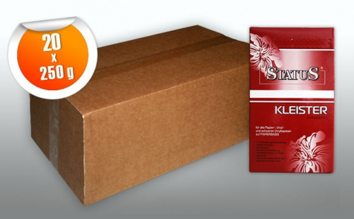 STATUS PROFI Kleister Kleber für normale und schwere Vinyl-Tapeten auf Papierbasis 1 Karton 5 kg für max. 800 qm