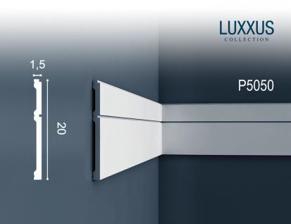 Friesleiste Stuck Orac Decor P5050 LUXXUS Wandleiste Wandprofil Stuck Profil Dekor Leiste stoßfest | 2 Meter