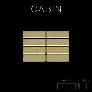 Mosaik Fliese massiv Metall Titan gebürstet in gold 1, 6mm stark ALLOY Cabin-Ti-GB 1, 01 m2