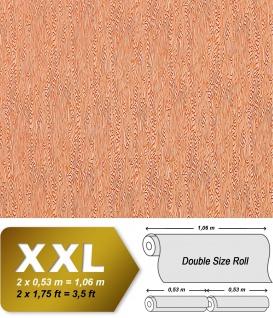 Grafik Tapete Vliestapete EDEM 672-91 XXL Wood Design stilisierte Holzmaserung Holzoptik Tapete ziegel orange 10, 65 qm