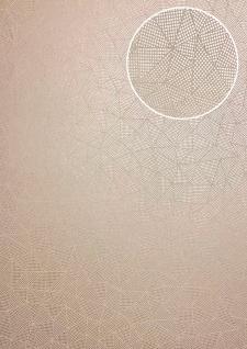 Grafik Tapete ATLAS XPL-590-4 Vliestapete strukturiert mit geometrischen Formen schimmernd grau bronze lehm-braun beige-braun 5, 33 m2