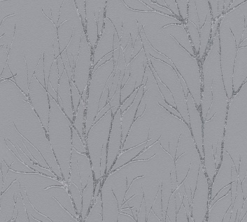 Natur Tapete Profhome 372601-GU Vliestapete leicht strukturiert mit floralen Ornamenten matt grau silber 5, 33 m2