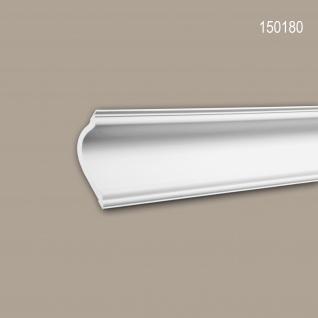 Eckleiste PROFHOME 150180 Zierleiste Stuckleiste Modernes Design weiß 2 m