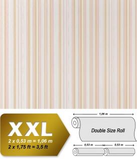 Streifen Vliestapete EDEM 967-23 XXL Streifen-Muster hochwertige Designer Tapete beige weiß 10, 65 qm