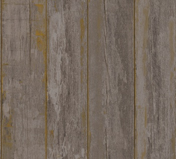 Holz Tapete Profhome 368932-GU Vliestapete glatt in Holzoptik matt braun schwarz 5, 33 m2